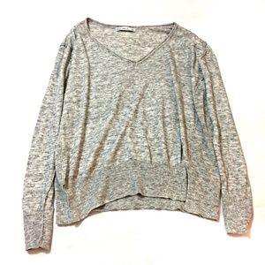 Zara Knit Women's Heather Gray Sweater Size Small